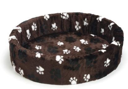 Hundebett - dunkelbraun mit großer Standfläche 80 cm - Beetees